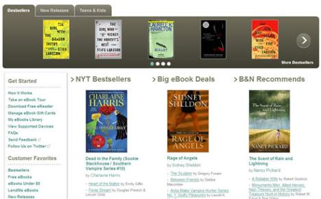 B&N Ebook Section