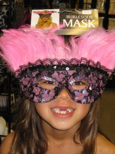 The Girl in Pink Mask