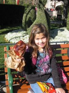 The Girl with her Tukery Leg at Disneyland