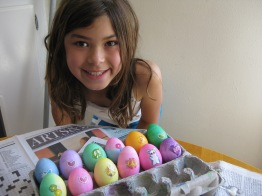 The Girl w/Easter Eggs