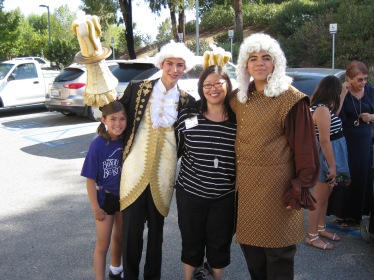 The Girl and I with Lumiere and Cogsworth