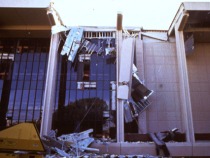 Oviatt Library Quake Damage