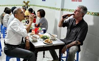 President Obama and Anthony Bourdain