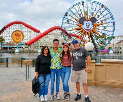 The Family at California Adventure.