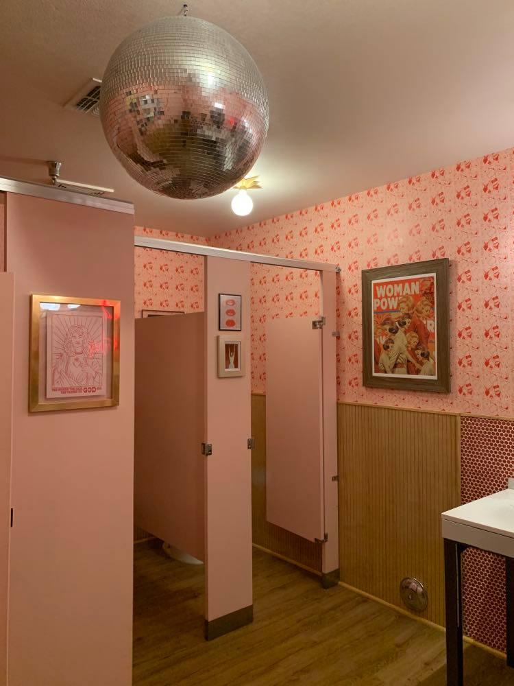 Boozehound's Disco Ball Restroom
