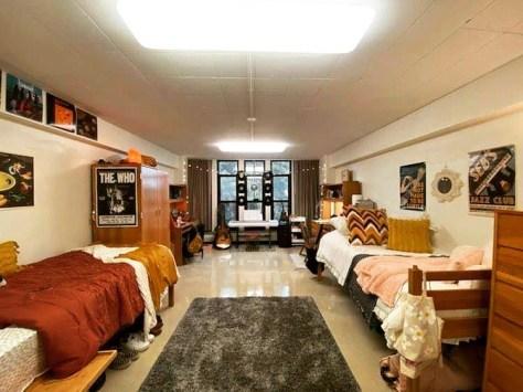 Huge MSU dorm room.